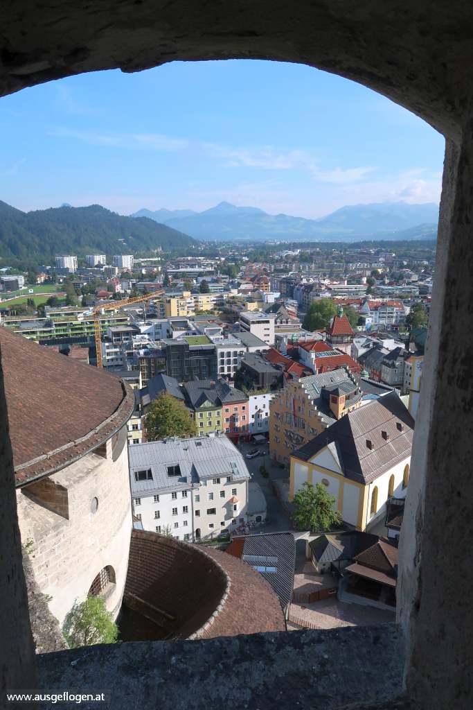 Festung Kufstein Blick auf Inn