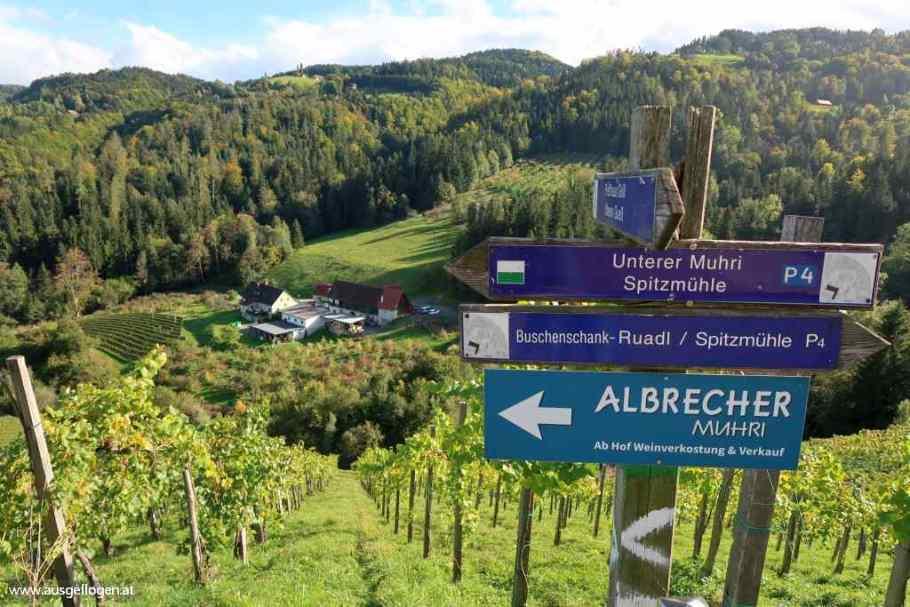 Wanderung Heiligengeistklamm über Schlossberg