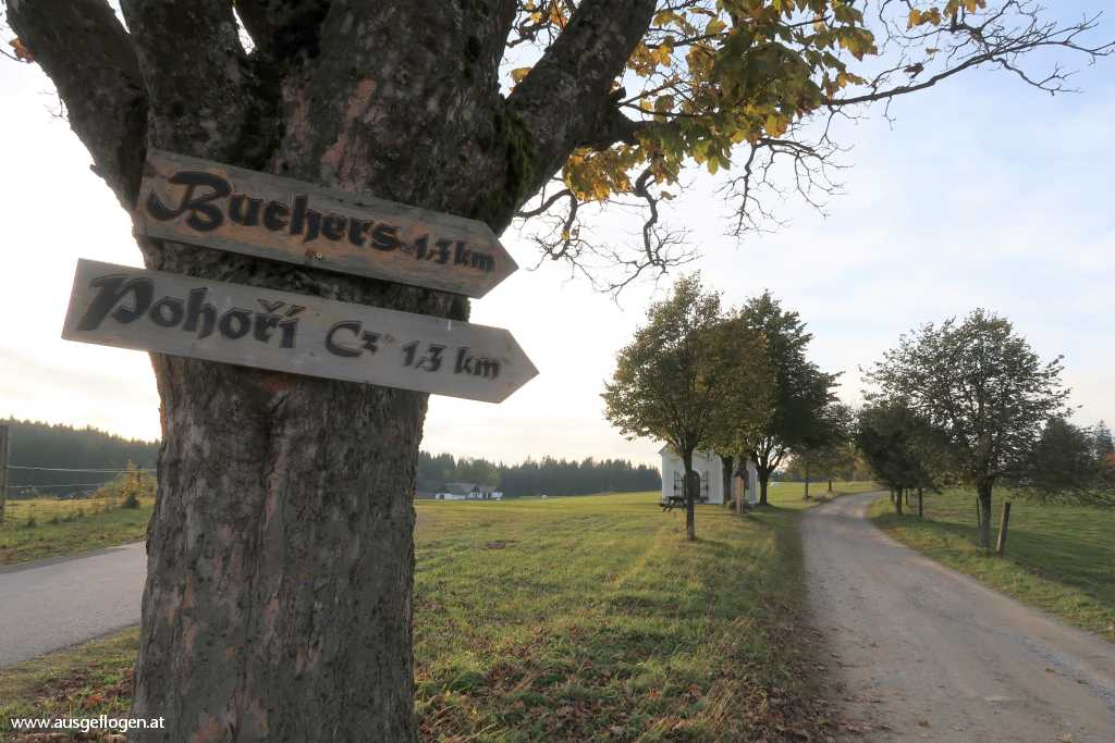 Buchers Gedenkkapelle Südbohmen oberes Waldviertel