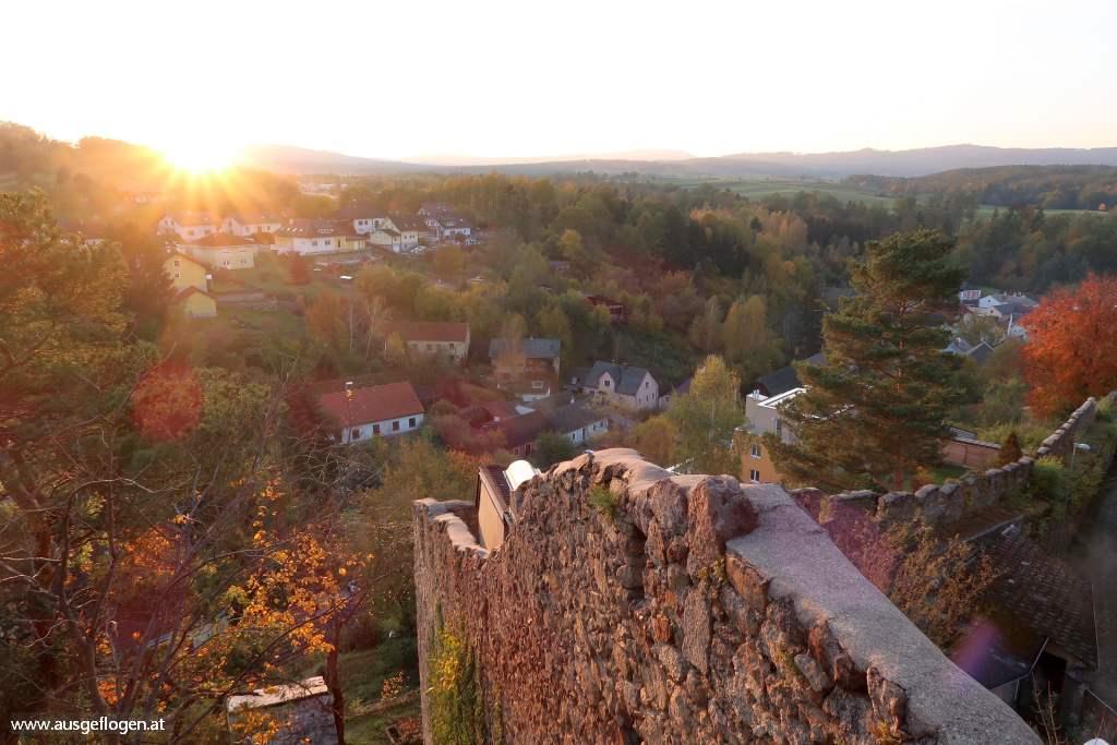 Weitra Aussichtsplattform Stadtmauer