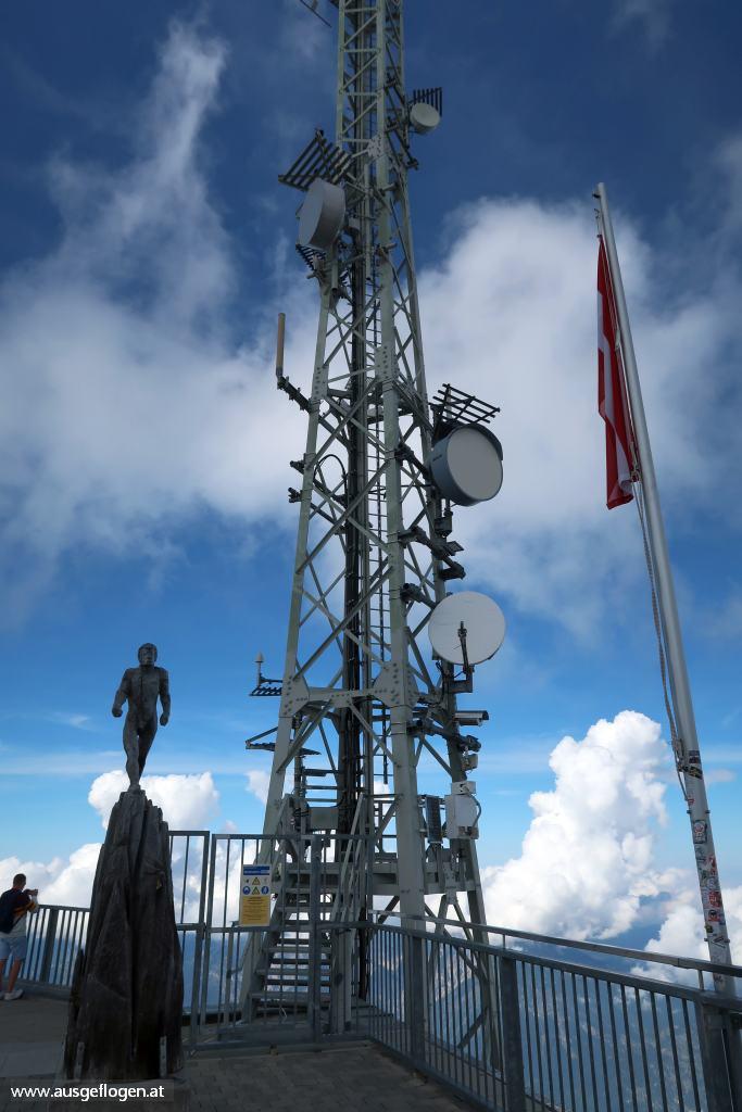 Zugspitze meistverbauter Gipfel technische Anlagen