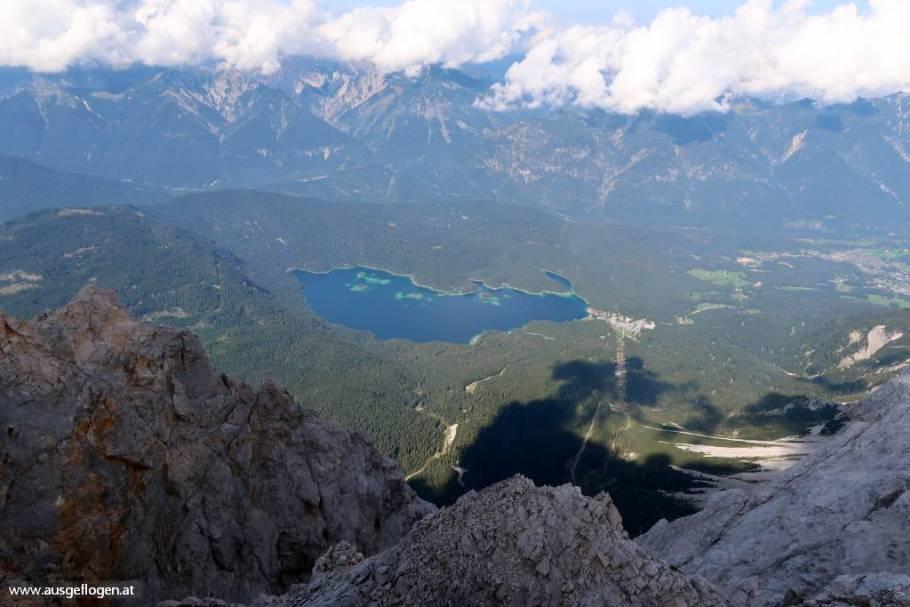 was man von der Zugspitze sehen kann