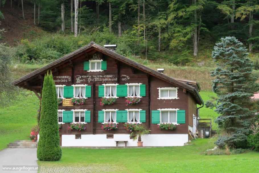 Montafon Ausflugsziele Walserhäuser