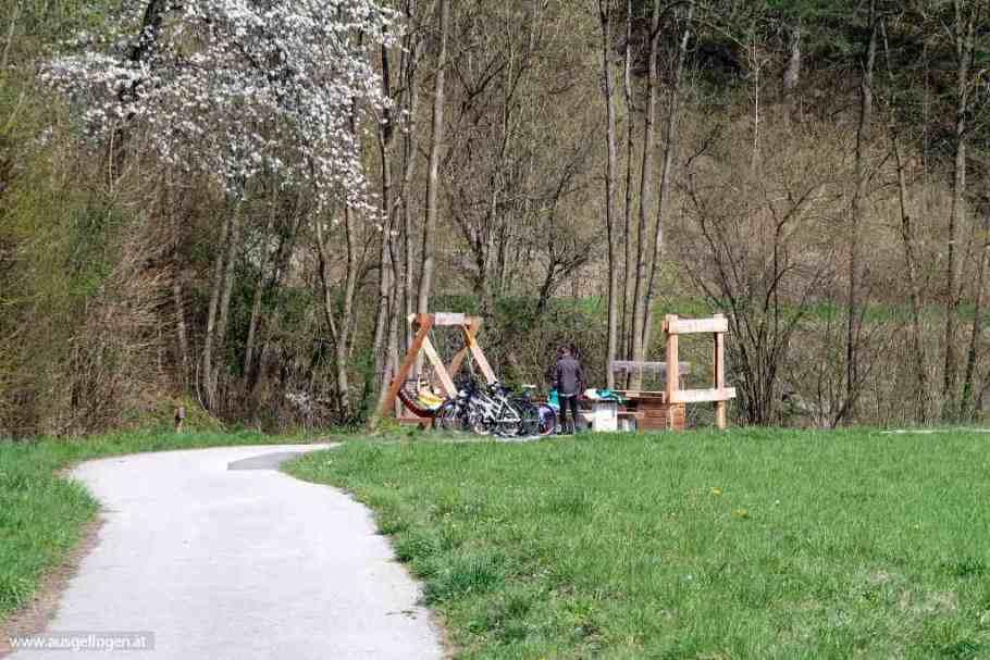 Triestingtal Radweg Genussplatzerl Rastpause