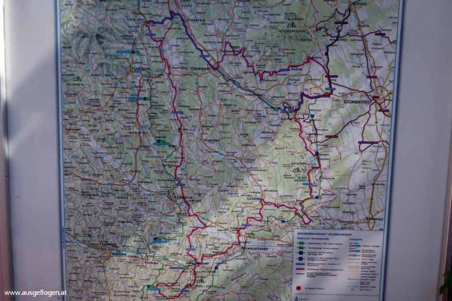 Paradiesroute Südburgenland Karte Route