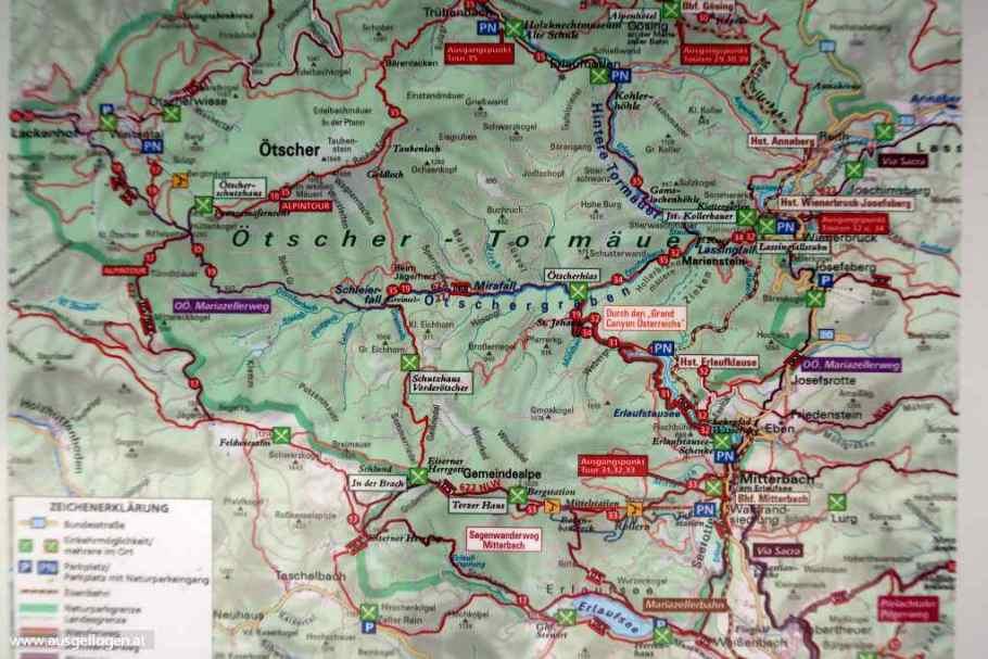 Wanderung Ötschergräben Karte