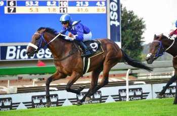 Soqrat wins Group One Horse Chestnut Stakes at Turffontein