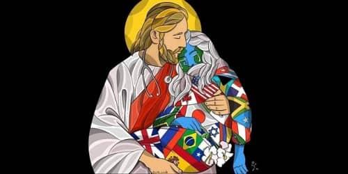 Gesù abbraccai il mondomalato di CoViD