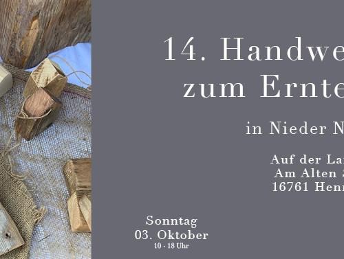 C&C HOLZMANUFAKTUR - 14. Handwerkermarkt zum Erntedank am 03. Oktober 2021 in Hennigsdorf