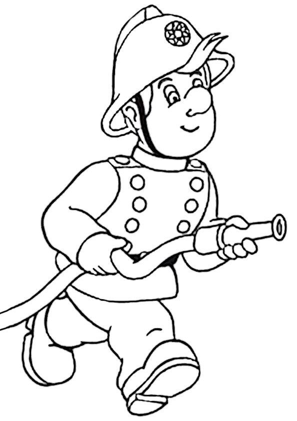 Feuerwehr 5 Ausmalbild
