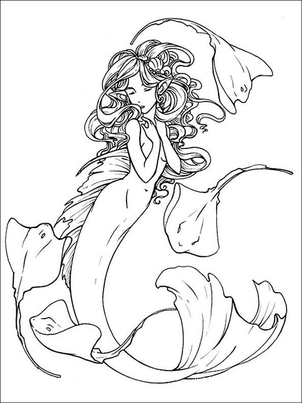Meerjungfrau 11 Ausmalbild