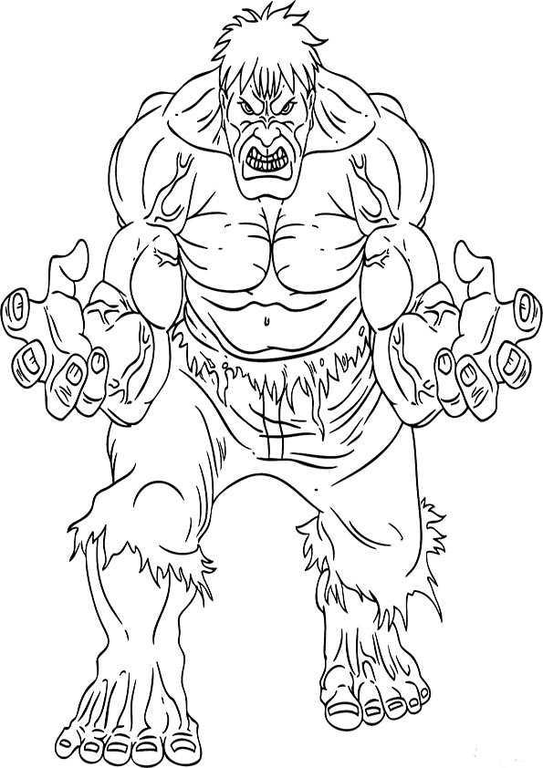 Ausmalbilder Hulk 1 Ausmalbilder Malvorlagen