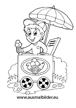 Ausmalbilder Eisverkufer Berufe Malvorlagen