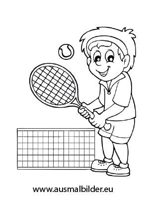 Ausmalbilder Tennis Spieler Berufe Malvorlagen