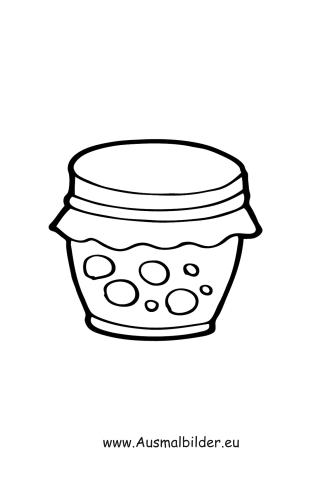 Ausmalbilder Marmelade Lebensmittel Malvorlagen
