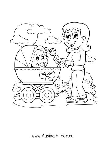 Ausmalbilder Babysitter Haushalt Malvorlagen