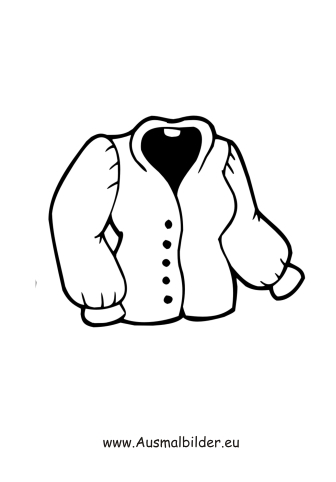 Ausmalbilder Jacke Kleidung Malvorlagen
