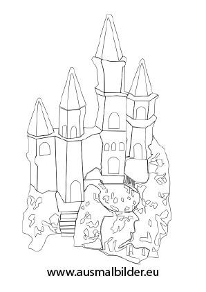 Ausmalbilder Kleine Burg Prinzessin Malvorlagen Ausmalen