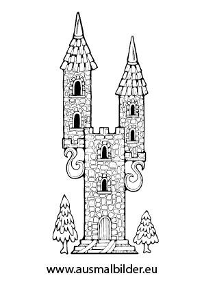 Ausmalbilder Turm Einer Prinzessin Prinzessin