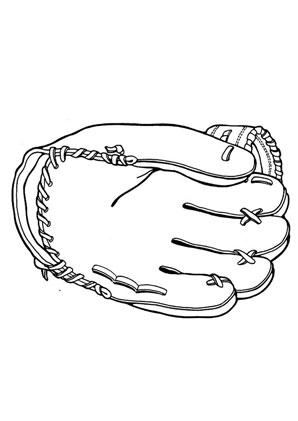 Ausmalbilder Football Handschuh Spielsachen Malvorlagen