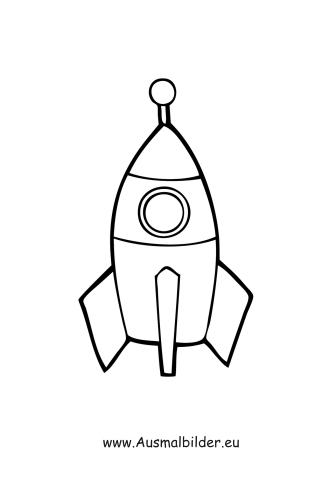 Ausmalbilder Rakete Spielsachen Malvorlagen Ausmalen