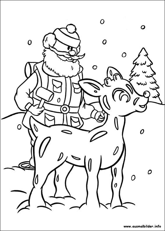 Rudolph Mit Der Roten Nase Malvorlagen