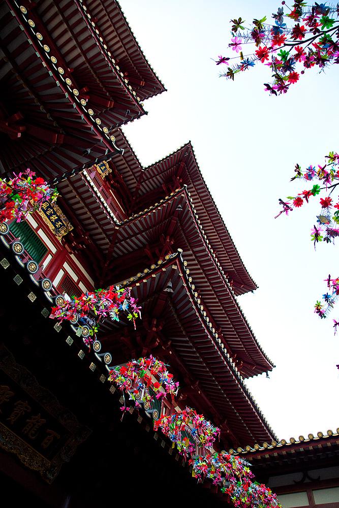 Außenansicht vom Tempel