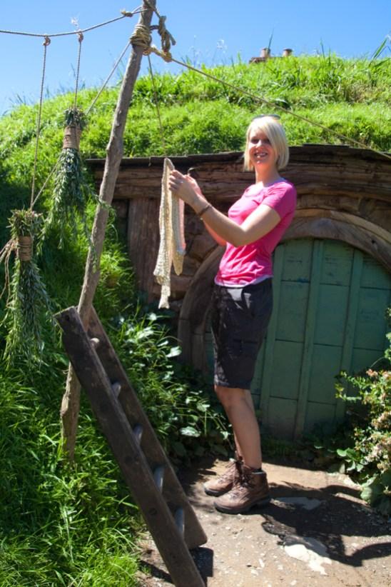 Wäsche aufhängen in Hobbiton