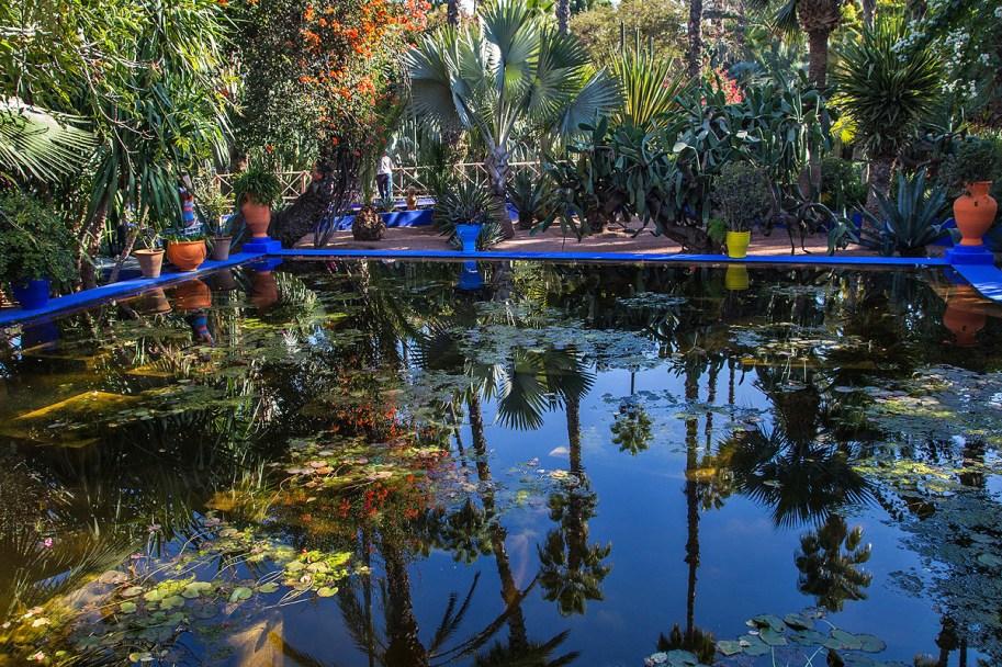 Wasser im Jardin Majorelle