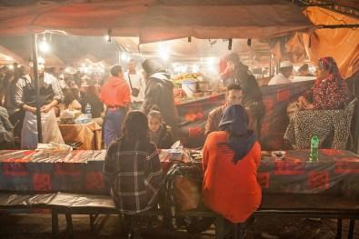 Garküchen am Djemaa el Fna
