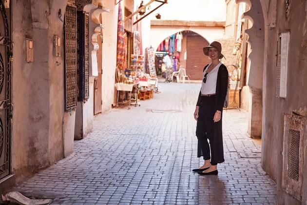 Katharina in der Medina von Marrakesch