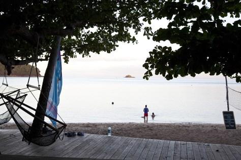 Sonnenuntergang im Mantaray Island Resort