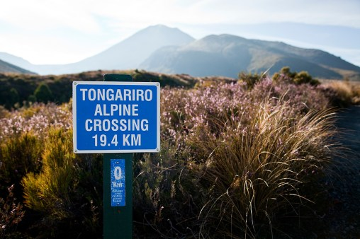 Tongariro Alpine Crossing Sign