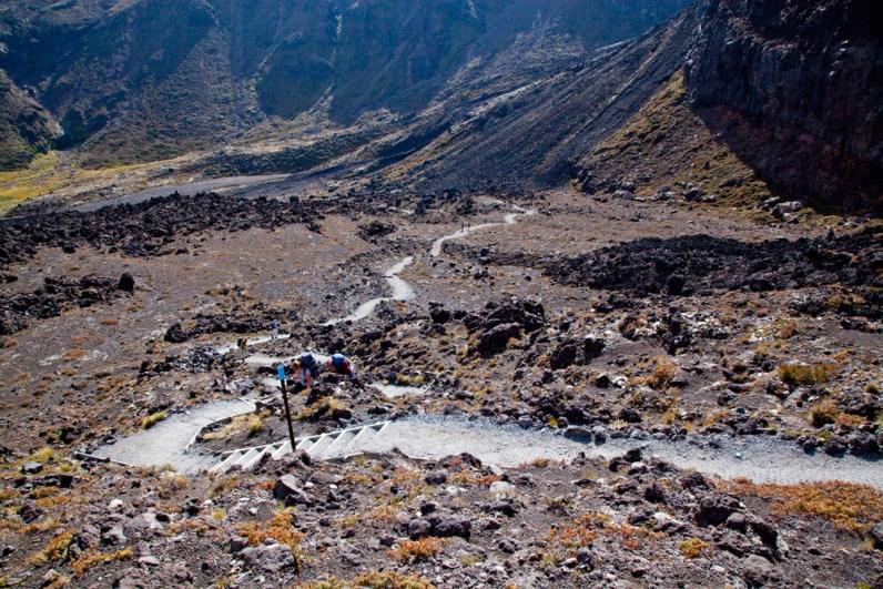 steiler Anstieg am Tongariro Crossing