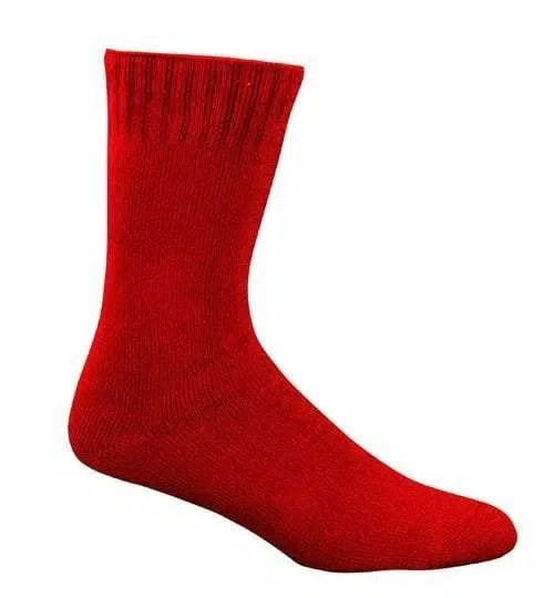 Bamboo Extra Thick Work Socks-Size 4-18 -Fire Red