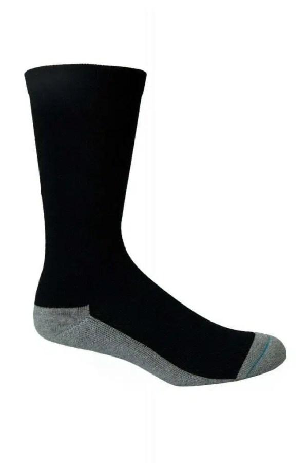 Bamboo Health Socks-Black-on-foot