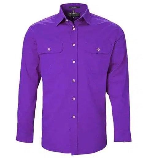 Pilbara LS Full Button Purple