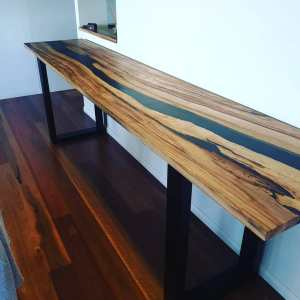 Aussie Camphor; Epoxy; Resin; Mica Pigment; table top; river table; dining table