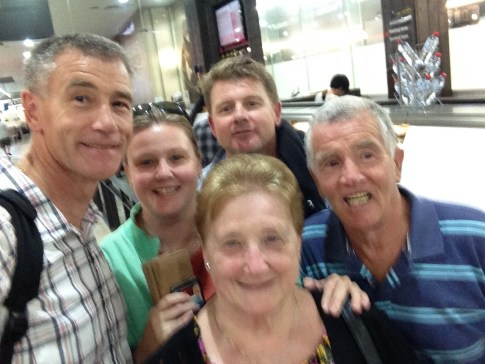 Departing Melb in Jan 16 with my mummy, dad, bro and sis.