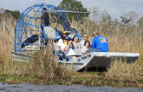 Airboat on the Everglades
