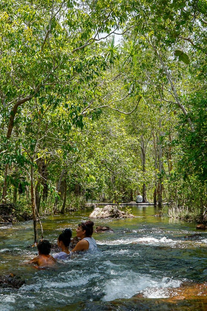 Swimming in Litchfield National Park