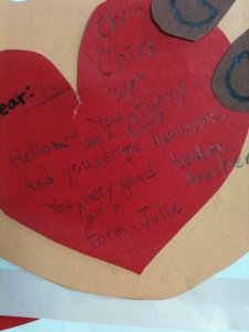 A Valentine written by a Korean student