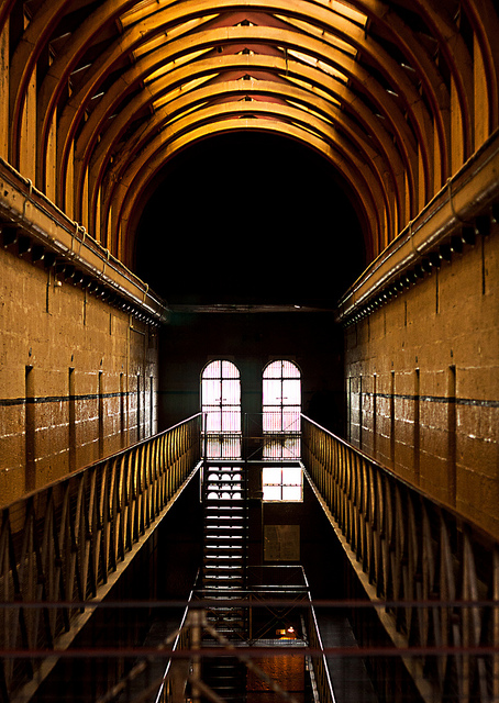 An ominous shot of the Old Melbourne Gaol.