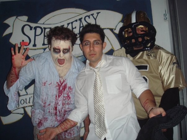 Dressed as a zombie for Galloween 2008