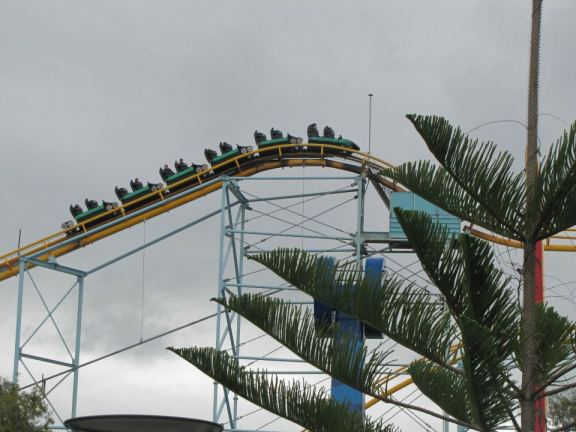 The Cyclone is Dream World's original coaster