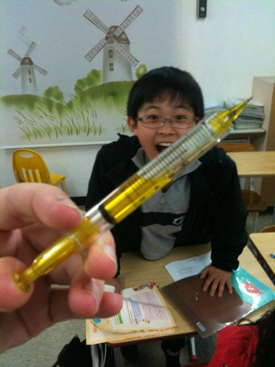 korean student syringe