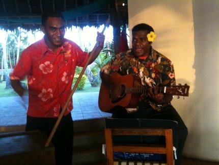 Live music at the Moody Marlin Bar, Mango Bay, Fiji