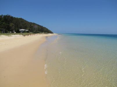 Beautiful beach at Tangalooma, Moreton Island