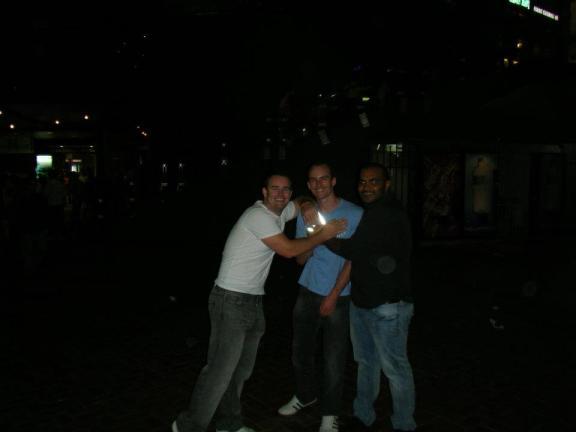 Drunk men in Sydney