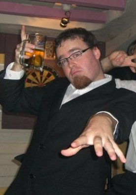 suit up drunk man